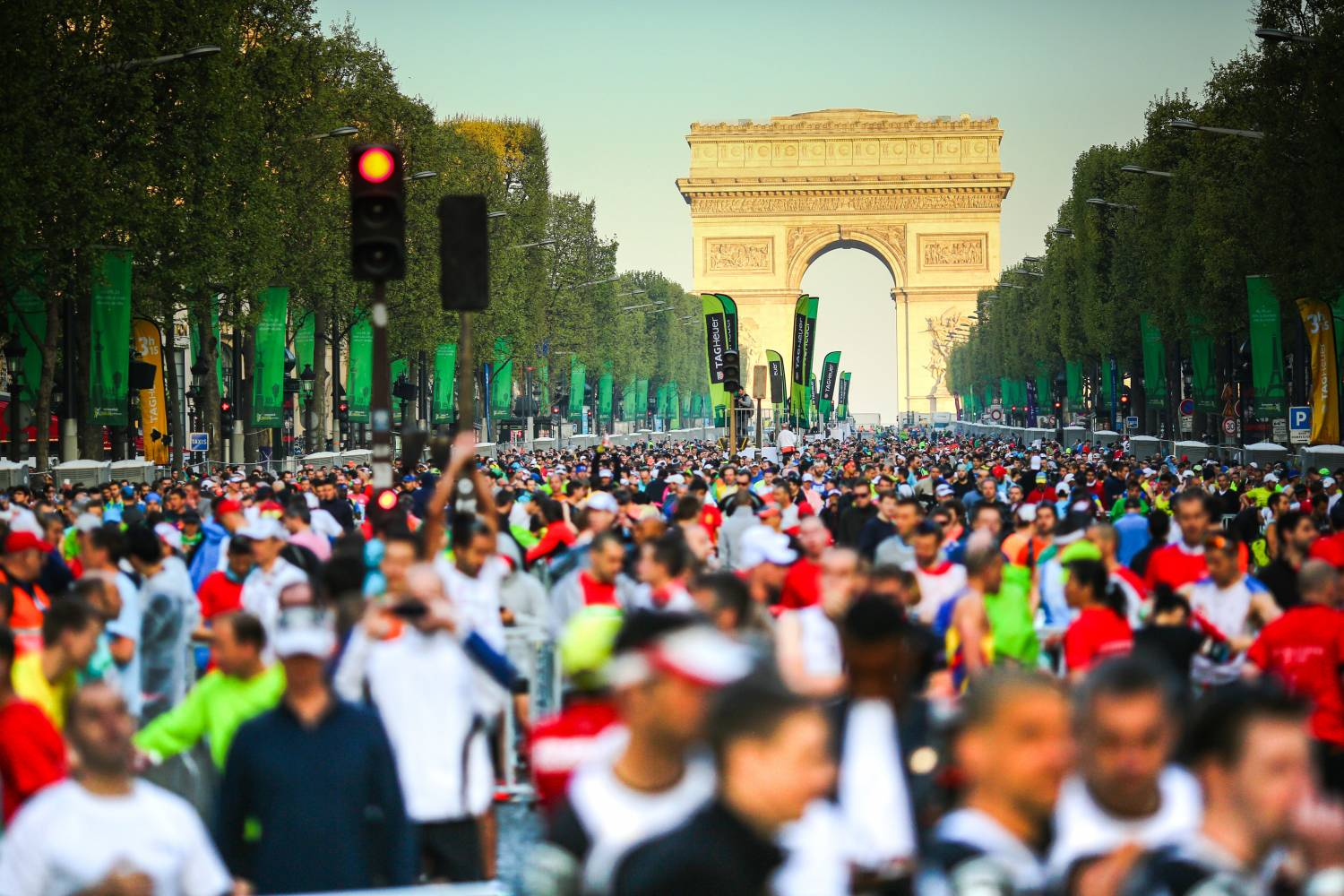 Start am Champs Elysees