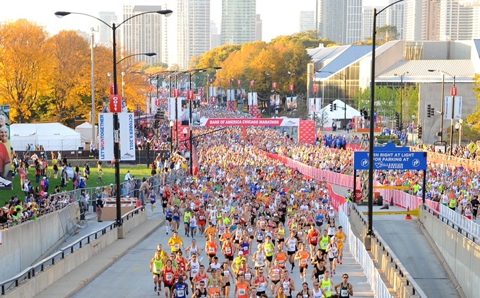 Start zum Chicago Marathon